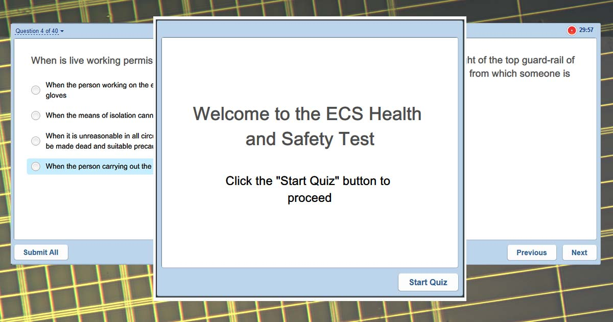 ECS Test Simulator with official questions | SparkyFacts co uk