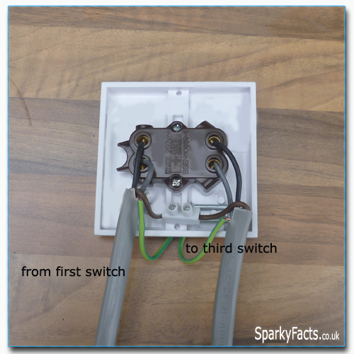 two way and intermediate lighting circuit wiring am2 exam rh sparkyfacts co uk 3-Way Switch Wiring Diagram Light Switch Wiring Diagram