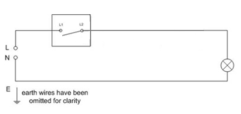 wiring a simple lighting circuit sparkyfacts co uk rh sparkyfacts co uk simple emergency light circuit diagram simple lamp circuit diagram